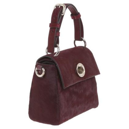 Karen Millen Small handbag with fur trim