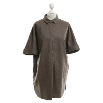 Carven Robe en laine marron