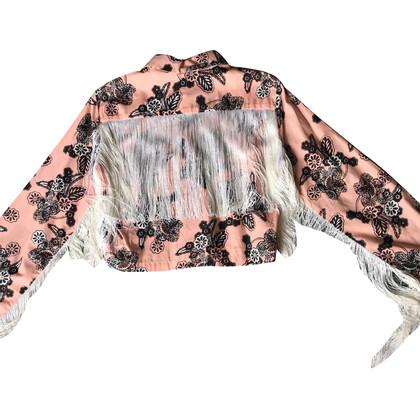 Au Jour Le Jour Blouse with a floral pattern and fringes