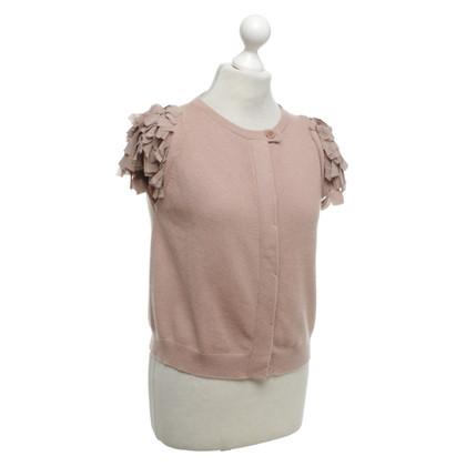 Brunello Cucinelli Knitted vest in blush pink
