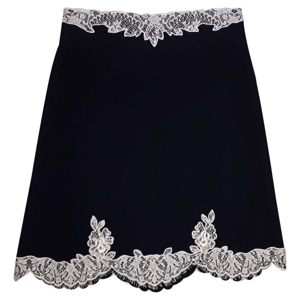 Red Valentino Black skirt lace