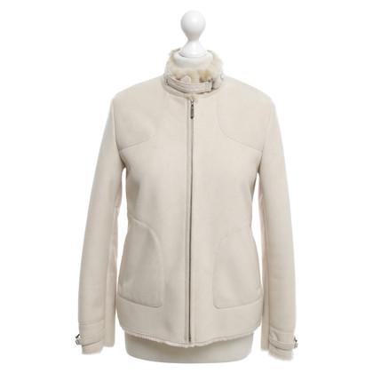 Christian Dior Lambskin jacket in cream