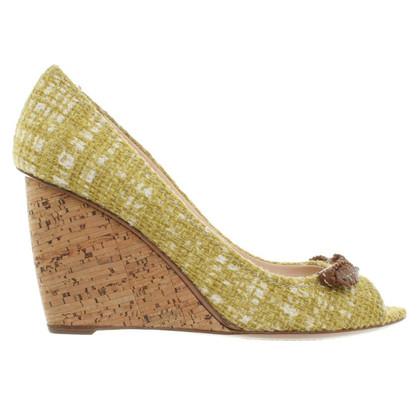Prada Peep-dita dei piedi Tweed