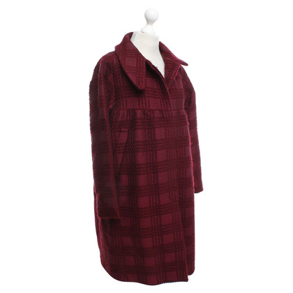 Dries van Noten Coat met plaid patroon