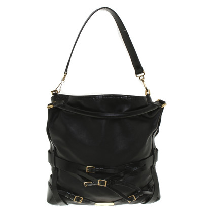 Burberry '' Gosford Bridle Black Leather Hobo Bag ''