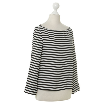Alice + Olivia Silk top with stripe pattern