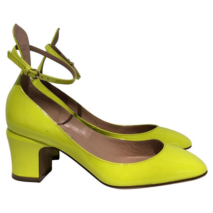 Valentino Lackleder-Pumps in Gelb
