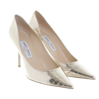 Jimmy Choo pumps with reptile embossing