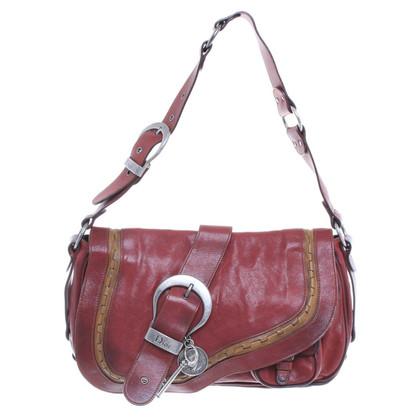 Christian Dior Handtasche aus rotem Leder