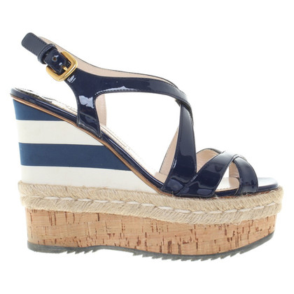 Prada Wedges in dark blue