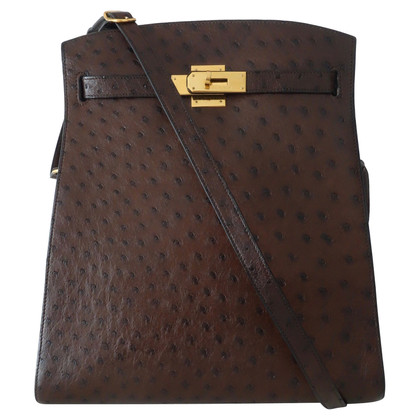 """Hermès """"Sun Kelly Bag"""" made of ostrich leather"""