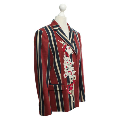 Dries van Noten Striped Blazer in Multicolor