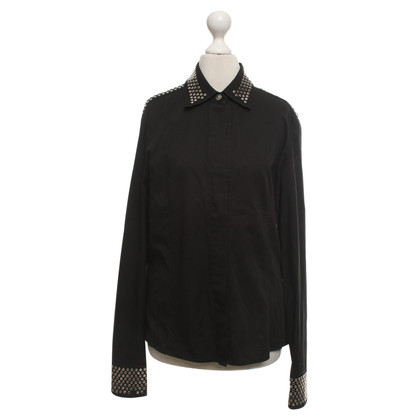 Versace Blouse in black / silver