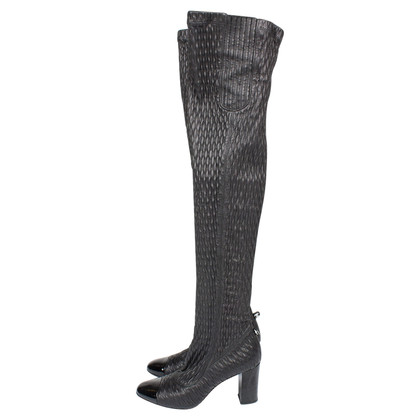 Chanel Chanel Tall Stretch Quilted Puckered