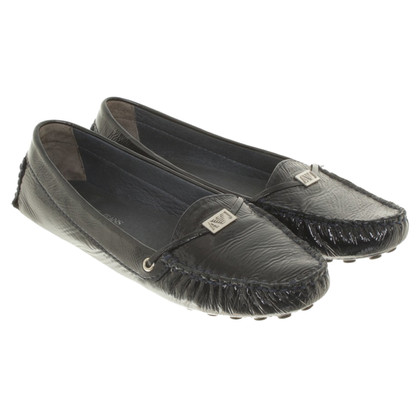 Armani Jeans Patent leather loafers