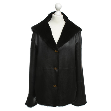 Other Designer Leather jacket with fur