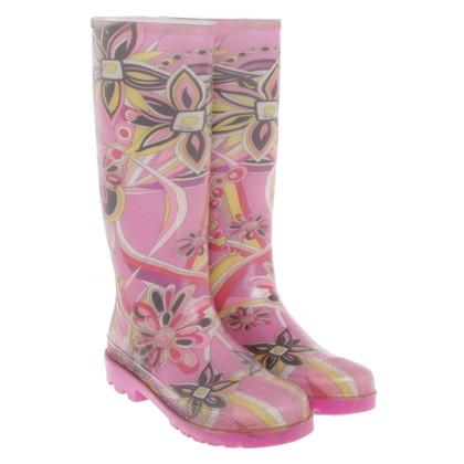 Emilio Pucci stivali di gomma con disegno