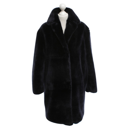 Max Mara Coat of woven fur