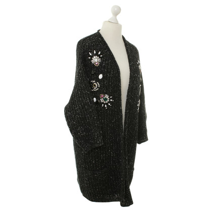 Antonio Marras Grobe Strickjacke in Schwarz