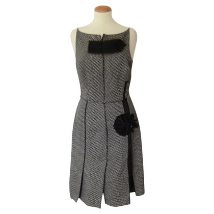 Prada Midi dress in salt / pepper look