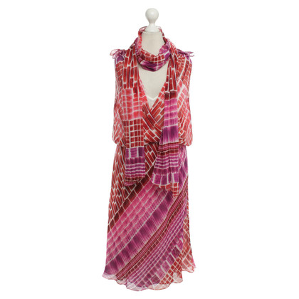 Escada Silk Dress Geo Stampa