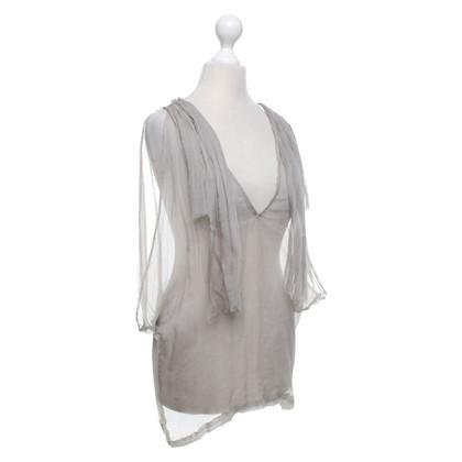 Dries van Noten Silk top in grey