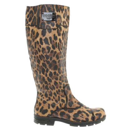 Dolce & Gabbana Boots with animal print