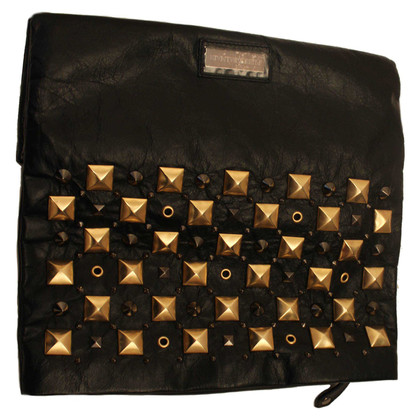 Pierre Balmain clutch with rivets