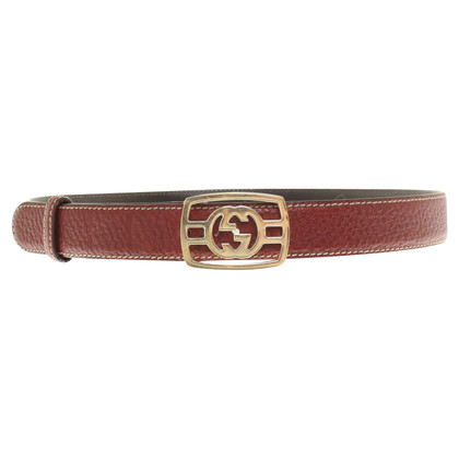 Gucci Bordeaux colored leather belt