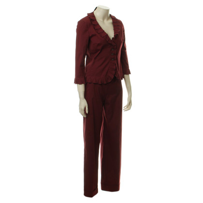 Prada Burgundy pants suit