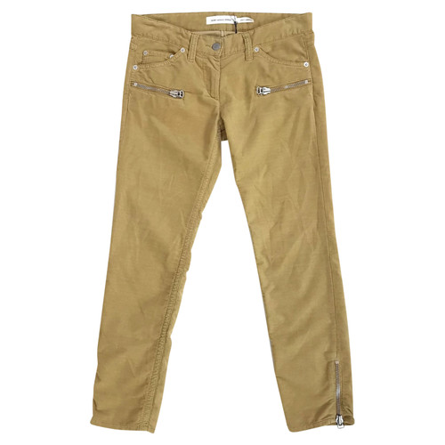70cff32626a Isabel Marant Etoile Trousers Cotton in Yellow - Second Hand Isabel ...
