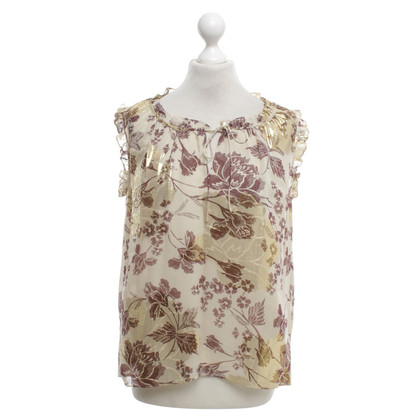 Diane von Furstenberg Silk top with metal threads