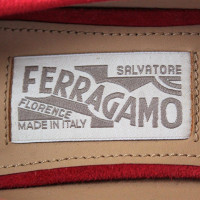 Salvatore Ferragamo Suede wedge shoe