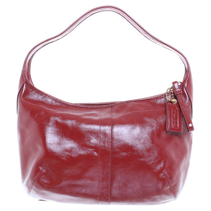 Coach Textured patent leather handbag