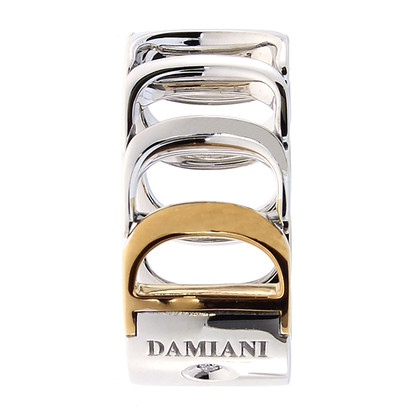 Damiani White / red gold ring