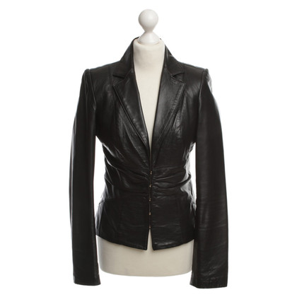 Elisabetta Franchi Leather jacket in black