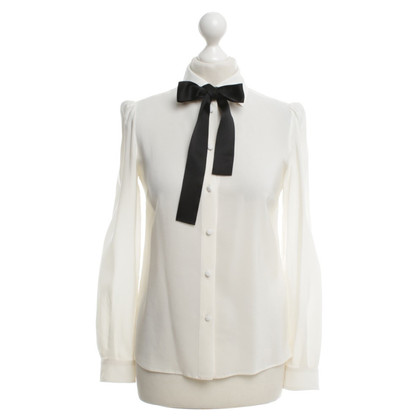 Dolce & Gabbana chemisier en soie avec noeud de satin noir