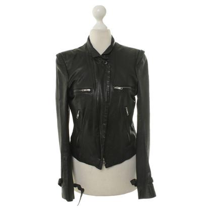 Ann Demeulemeester Leather jacket in black
