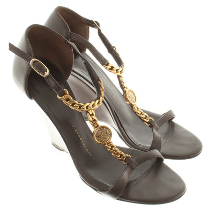 Giuseppe Zanotti Wedge sandals in brown