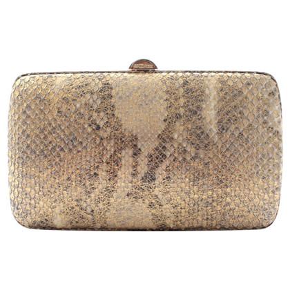 Sergio Rossi Python leather clutch
