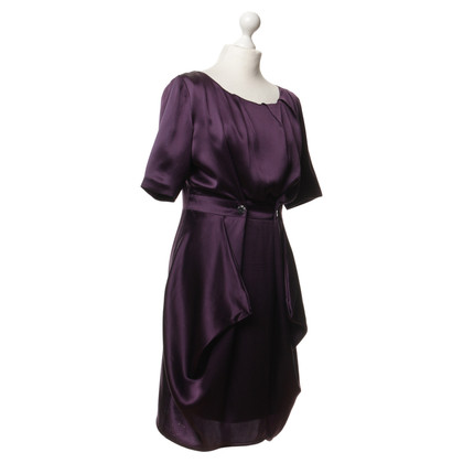 Acne Silk dress in Eggplant