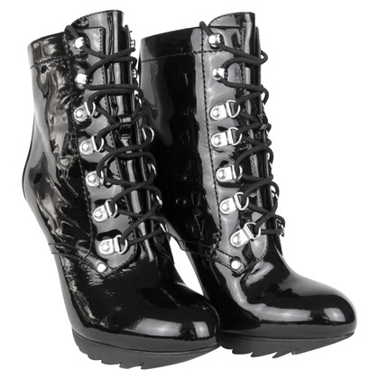 Karen Millen Patent leather ankle boots