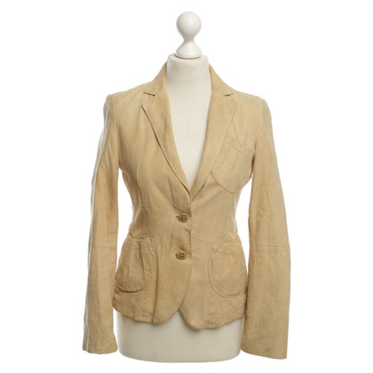 Hugo Boss Leather Blazer in Beige