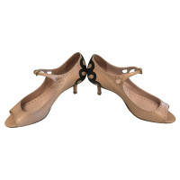 Miu Miu Peeptoes in Nude