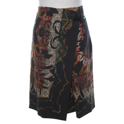 Etro skirt in black / multicolor