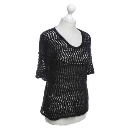 James Perse Crochet top in nero