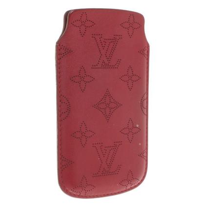 Louis Vuitton Caso 5 iPhone in rosso scuro
