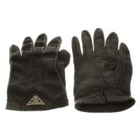Prada Leather gloves with decorative seam