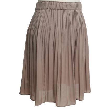 René Lezard skirt with pleated pleats
