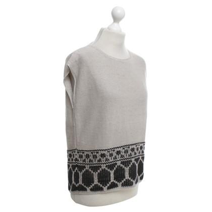 Drykorn top maglia con reticolo